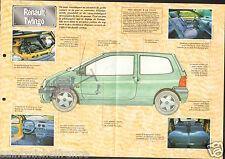 Renault Twingo 4 Cyl  1993 France Car Auto FICHE FRANCE