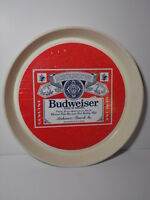 VINTAGE BUDWEISER BEER ADVERTISING TRAY PLASTIC ANHEUSER BUSCH ST LOUIS MISSOURI