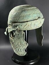 More details for rare roman legionary bronze battle helmet with high detailing - circa 100-400ad