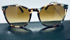 NIB Authentic Persol Sunglasses 3007-S 1058/53 Havana Azure Brown Clear Gradient