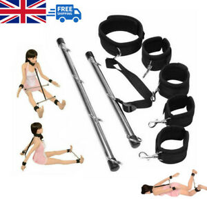 Lockable Bondage Hand Spreader Bar Wrist Ankle Cuffs Play Restraints Sex Toy UK