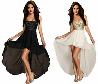 Aimerfeel womens black or beige bustier dress short front and long flowing back.