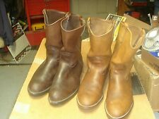 2 USA VINTAGE RED WING 1199 WORK COWBOY TRUCKER BOOTS 13D LOT