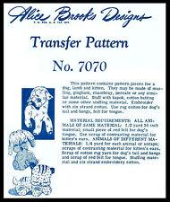 LAMB KITTEN Cat PUPPY Stuffed Animals Toy #7070 Alice Brooks Pattern Fabric Sew
