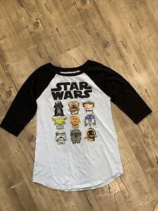 Star Wars Pajama Nightgown Slumber Shirt Dress R2d2 Leia Darth Mandalorian S