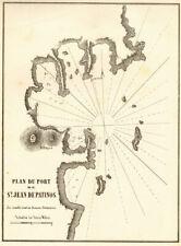 Skala, Patmos. 'Port de St Jean de Patinos'. Greece Dodecanese GAUTTIER 1854 map