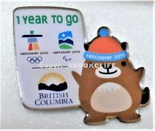 2010 OLYMPICS 1 YEAR TO GO MUKMUK B.C. PROMO Lapel Pin Mint VANCOUVER