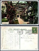 CALIFORNIA Postcard - Riverside, Glenwood Mission Inn, Pergola R49