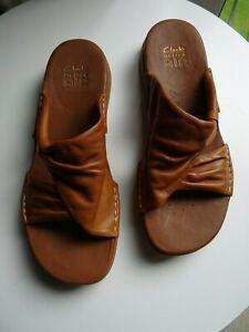 Clarks Active Air Tan Leather Comfort Sandals Size UK 6