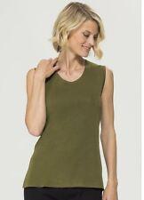 Misook Moss Green Knit Sleeveless Tank Shell Top S
