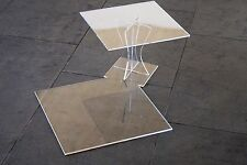 Tortenetagere Acryl Etagere Hochzeit 2 Etagen Plexiglas 25x25 30x30 cm