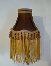 GORGEOUS BESPOKE DOWNTON ABBEY CLIP ON LAMPSHADE IN BRONZE & GOLD was 29.99