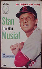"""""""STAN THE MAN MUSIAL"""" 1961 1st PRINTING PAPERBACK BOOK by IRV GOODMAN"""