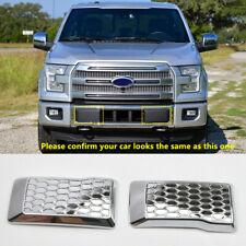 Chrome Accessories Front Bumper Corner Cover Trim 2pcs For Ford F-150 2015-2016