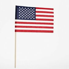"Made In USA - American 4""x6"" Cloth Flags (24 flags)"