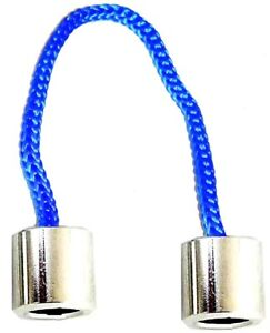 WORRY BEADS ALUMINIUM BLUE Begleri Fidget Finger Toy Corded 2 Beads Anti Stress