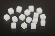 50pcs Jade White Glass Crystal Faceted Cube Beads 6mm Spacer Jewelry Findings