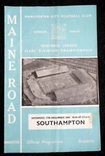 Manchester  City v Southampton    17-12-1966     with token