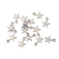 20pcs Tibetan Dark Silver Charms Star Pendant  Beads fit Bracelet  9*9mm
