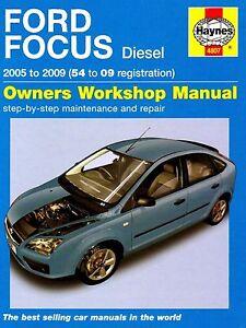 Haynes 4807 Manual for Ford Focus Diesel 2005-2009 Hardback