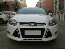 FOR 2012 Ford Focus LED Daytime Running Light DRL with Fog Lamp Covers