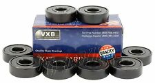 Pack 8 Pro/Speed Skateboard Bearing Black Quality