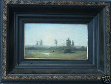 THEODOOR VERSTRAETE 1851-1907 BELGIUM BARBIZON COW LANDSCAPE SALES TO $16,900