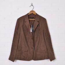 NWT $209 Talbots Brown 100% Silk The Grace Fit Dress Blazer Jacket Plus Size 12W