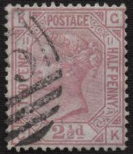 SG141 1879 2 1/2d. plate 11, GK. Fine used. E2302
