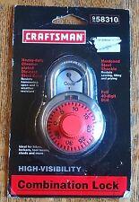 Craftsman combination lock harden steel shackle