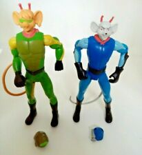 Vintage Biker Mice From Mars  Action Figures X 2 with Helmets