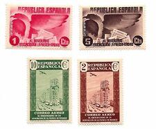 1936 Spain Commemorative Issue 40th Anniversary Madrid Press Assoc 4 Stamp Set