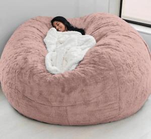 7ft Foam Giant Round Bean Bag Memory Living Room Chair Lazy Sofa Soft Cover