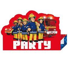 8pk Fireman Sam Hero Children's Birthday Party Supplies Invitations Envelopes