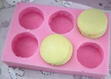 6-Cavity Half Macaron Soap Mold Flexible Silicone Mold For Soap  Resin Clay