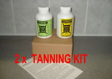 2 x TANNING KIT. For animal hides, about 10 -12 fox, 15-20 rabbits.