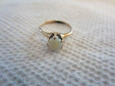 VINTAGE 14K GOLD OPAL RING YELLOW GOLD