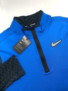 Nike Flex Wild Run Element Running Quarter Zip Pullover Blue Black Mens Size XL