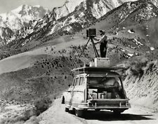 1940s Vintage ANSEL ADAMS Working Photographer Camera Car By CEDRIC WRIGHT 8x10