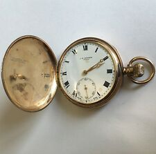 Antique Solid 9ct Gold Full Hunter J W Benson Pocket Watch 1918 16 Jewels D 48mm