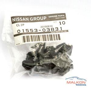 10x GENUINE FRONT GRILLE CLIPS FOR NISSAN NAVARA PATROL PATHFINDER 0155303831