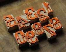 0-9 Zahlen Holzzahlen 50 mm Holzlettern Drucken Letter Ziffern letterpress type