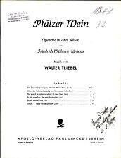 Pfälzer Wein * Noten für Klavier