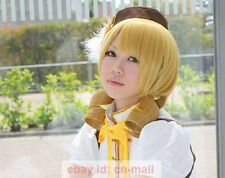 New Short Tomoe Mami Puella Magi Madoka Magica Anime Cosplay Party Wig+wig cap