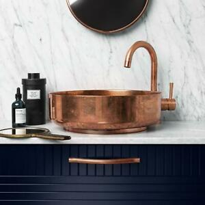 Vessel sink Copper Bathroom sink Handmade-countertop Basin Vanity Sink