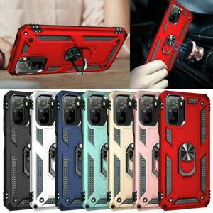 For Xiaomi Redmi Note 10 5G Case, Ring Armor Shockproof Stand TOUGH Phone Cover