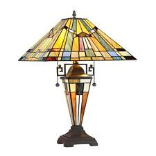Stained Glass Chloe Lighting 3 Light Double Lit Table Lamp CH33293MS16-DT3 New