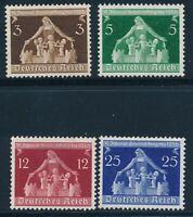 Stamp Germany Mi 617-9 Sc 473-6 1936 Fascism Berlin Munich Congress MH