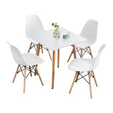 5-Piece Dining Table Set Wooden Table w/4 Chairs Dsw Dining Set for Kitchen/Bar