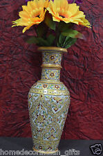 """12"""" Stones for Vases Golden Hand Painted Beautiful Jaipur Art Wedding Gifts H700"""